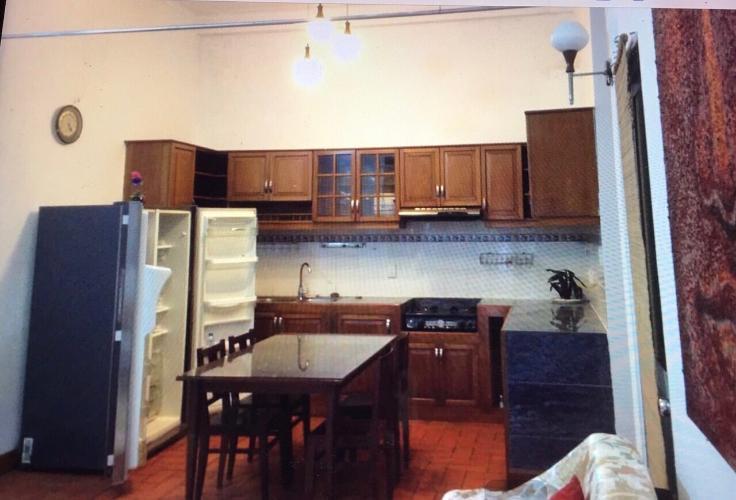 Phòng bếp văn phòng đường số 2, Quận 2 Văn phòng có sân vườn mát mẻ, diện tích 75m2, hướng Tây Bắc.