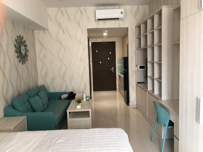 Phòng khách The Tresor Quận 4 Căn hộ The Tresor đầy đủ nội thất, hướng Tây Nam.