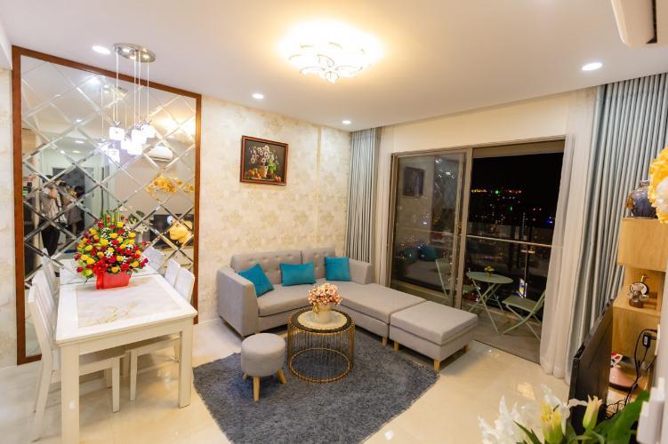 Phòng khách Masteri Millennium Quận 4 Căn hộ Masteri Millennium đầy đủ nội thất, hướng Đông Nam.