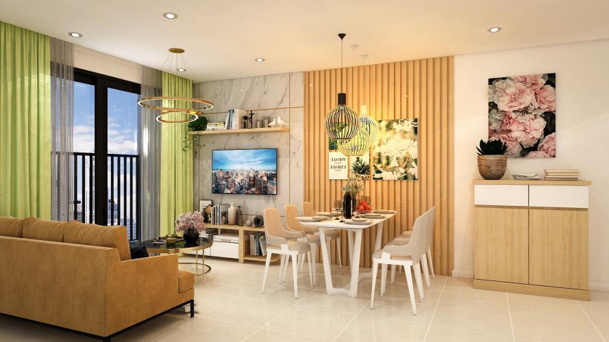 Phòng khách Safira Khang Điền, Quận 9 Căn hộ Safira Khang Điền view hướng Đông, nội thất cơ bản.