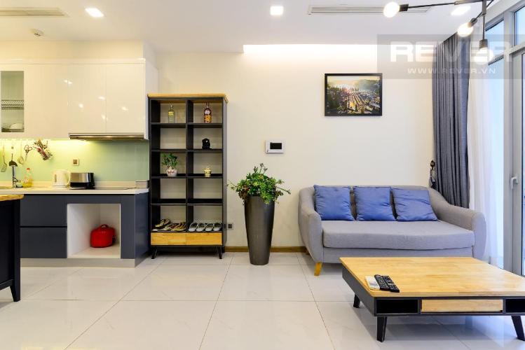 Cho thuê căn hộ Vinhomes Central Park 1PN, tháp Park 7, đầy đủ nội thất, view nội khu