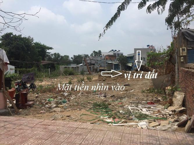 Đất nền đường Huỳnh Tấn Phát diện tích 107.6m2, có sổ hồng riêng.