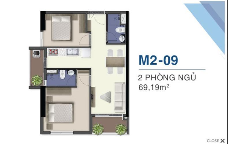Bán căn hộ Q7 Saigon Riverside nội thất cơ bản, ban công hướng Tây Nam