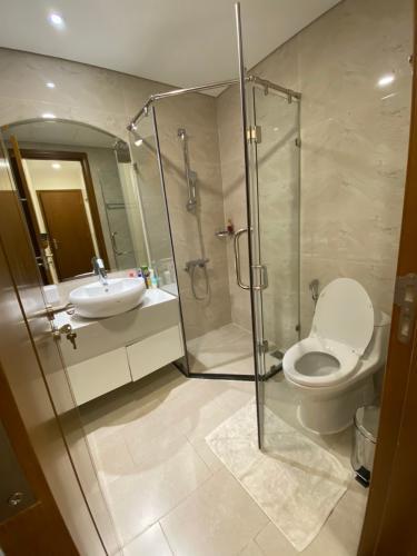 Phòng tắm Căn hộ Vinhomes Central Park Căn hộ tầng 33 Vinhomes Central Park bàn giao nội thất đầy đủ