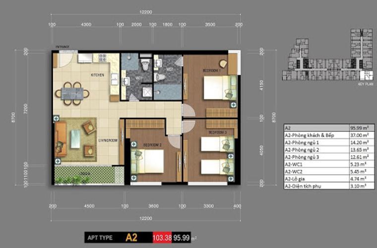 Căn hộ chung cư Carillon 7 nội thất cơ bản cao cấp, view thoáng mát.