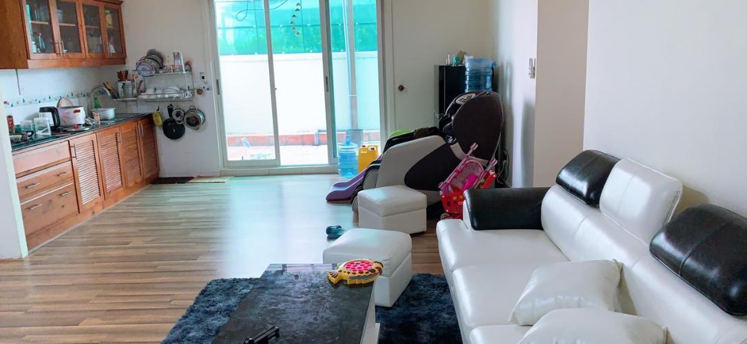 Căn hộ tầng 12 Conic Đông Nam Á ban công hướng Bắc, nội thất cơ bản.