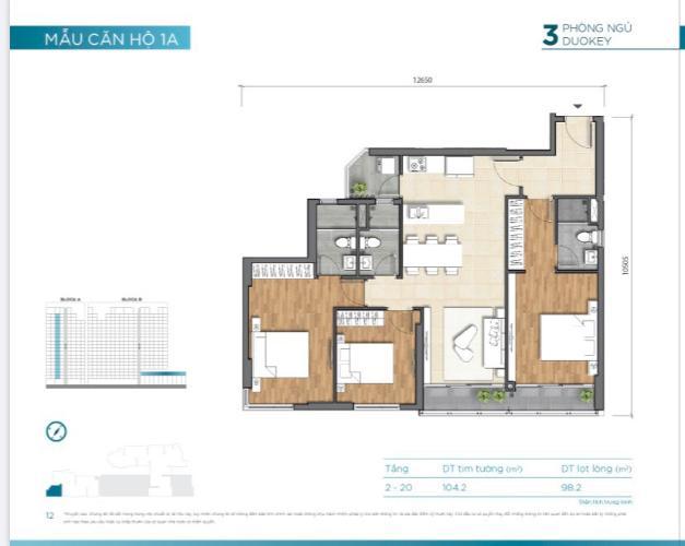 layout căn số 7 tháp A dự án D'Lusso quận 2 Căn hộ D'Lusso nội thất cơ bản, ban công thoáng mát đón gió.