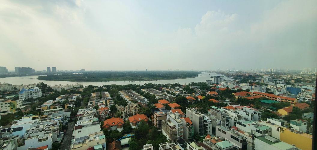 view cảnh căn hộ The Vista An Phú Căn hộ The Vista An Phú tầng 11 bàn giao nội thất đầy đủ