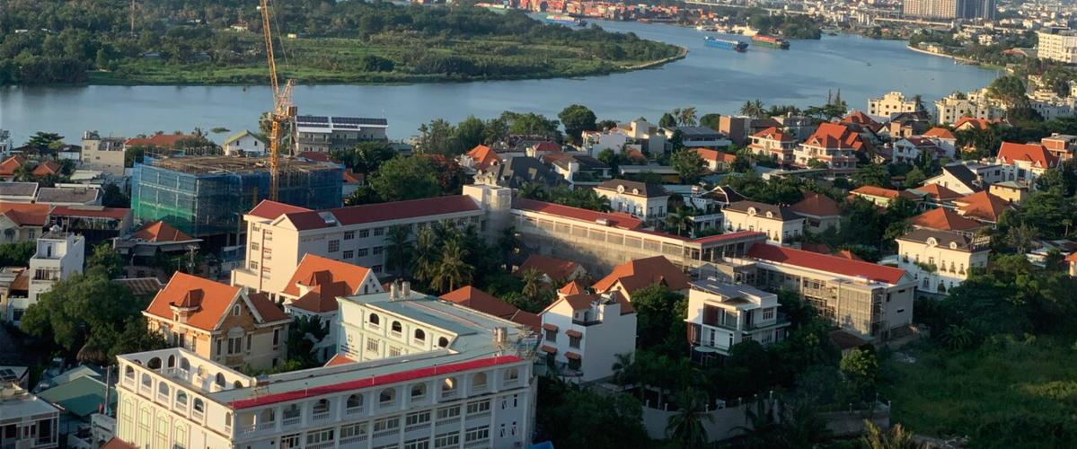 View căn hộ Masteri Thảo Điền, Quận 2 Căn hộ cửa hướng Đông Bắc Masteri Thảo Điền, đầy đủ nội thất.