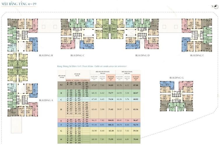 Mặt bằng dự án Căn hộ Saigon South Residence tầng 8 thiết kế sang trọng, đầy đủ nội thất.