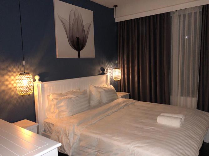 Căn hộ The Tresor, Quận 4 Căn hộ The Tresor tầng 14 thiết kế 2 phòng ngủ, đầy đủ nội thất.