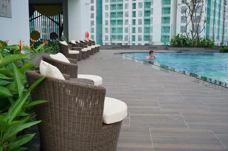 Tiện ích RiverGate Residence, Quận 4 Studio Rivergate Residence tầng 14 thiết kế 1 phòng ngủ, đầy đủ nội thất.