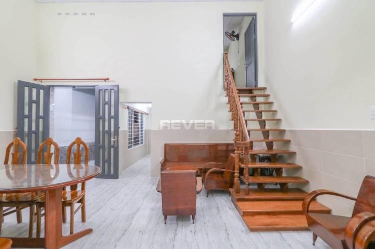 Nhà phố Huyện Bình Chánh Nhà phố thiết kế 1 trệt, 1 gác gỗ diện tích 120m2, bàn giao đầy đủ nội thất.