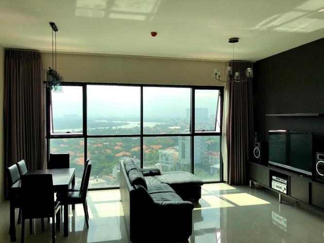 Căn hộ The Ascent tầng 10 diện tích 99m2, bàn giao đầy đủ nội thất.
