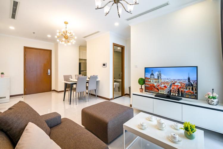 Căn hộ Vinhomes Central Park tầng cao diện tích 53m2, đầy đủ nội thất.