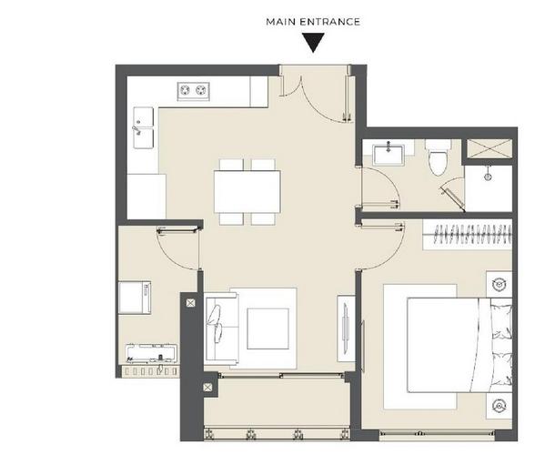 Căn hộ Masteri Lumiere Riverside tầng 18, diện tích 52.7m2.
