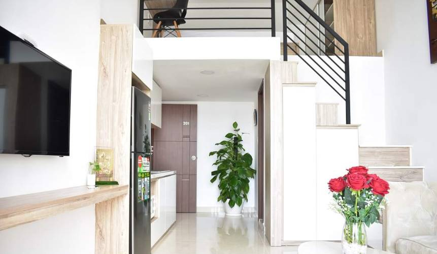 Penthouse Chung cư Phú Mỹ tầng 22, view thành phố tuyệt đẹp.