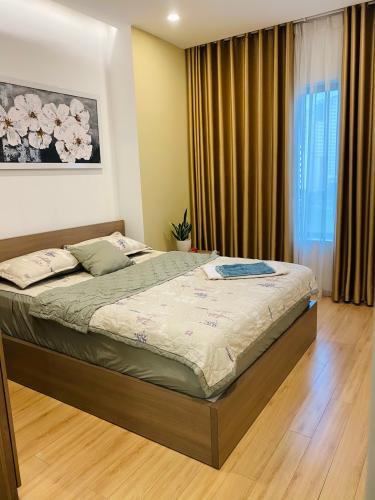 phòng ngủ New City Thủ Thiêm quận 2 Căn hộ tầng 06 New City Thủ Thiêm bàn giao nội thất đầy đủ