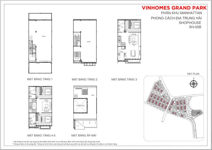 Bản vẽ Shophosue Vinhomes Grand Park, Quận 9 Shophosue Vinhomes Grand Park diện tích 7m x 18m vuông vức.