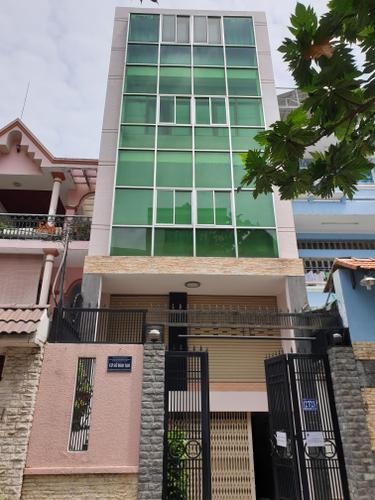 Tòa nhà văn phòng diện tích 150m2, thiết kế 5 tầng đúc chắc chắn.