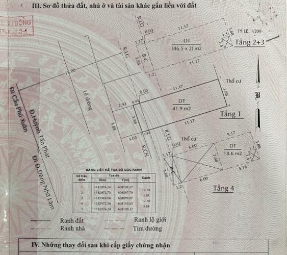 Bản vẽ nhà phố Huyện Nhà Bè Nhà phố mặt tiền đường Huỳnh Tấn Phát, ngay chợ Phú Xuân.
