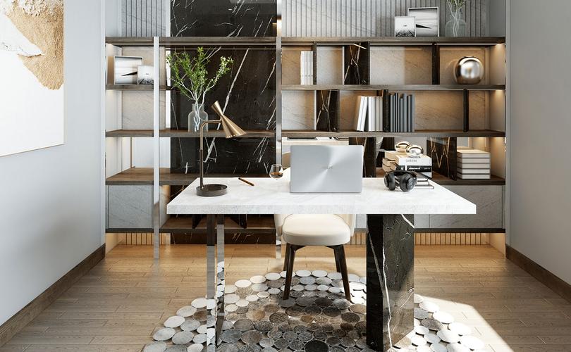Nhà mẫu Q7 Boulevard, Quận 7 Căn hộ Q7 Boulevard tầng 10 thiết kế 2 phòng ngủ, bàn giao nội thất cơ bản.