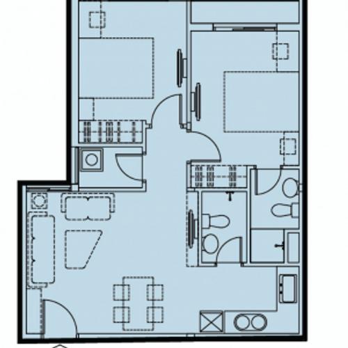 Căn hộ Dream Home Riverside tầng trung, diện tích 75.12m2, nội thất cơ bản.