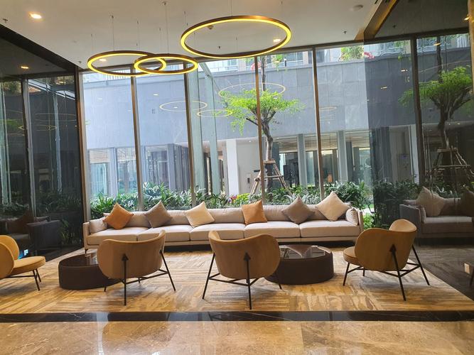 Sảnh tầng trệt căn hộ Empire City, Quận 2 Căn hộ Empire City tầng 7 diện tích 93.2m2, không gian thoáng đãng.