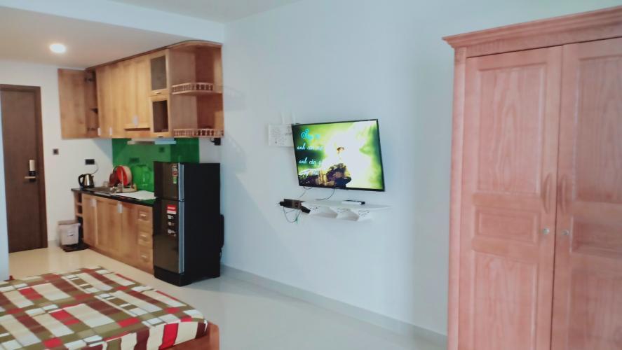 Phòng khách , Căn hộ Officetel Saigon Royal , Quận 4 Căn hộ office-tel Saigon Royal tầng 4 view nội khu yên tĩnh, đầy đủ nội thất.