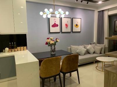Căn hộ The Sun Avenue tầng 23 thiết kế sang trọng, đầy đủ nội thất.