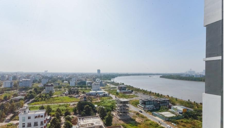 View căn hộ One Verandah, Quận 2 Căn hộ One Verandah tầng 12 view sông thoáng mát, đầy đủ nội thất.
