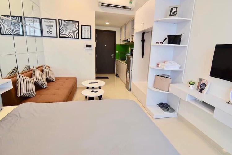 Studio RiverGate Residence tầng 20 cửa hướng Đông Nam, đầy đủ nội thất.