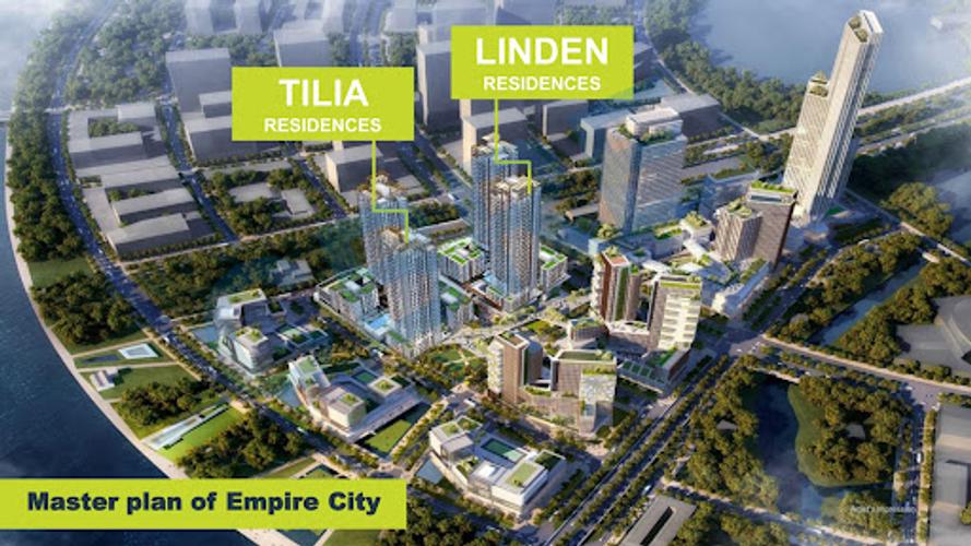 Căn hộ Empire City, Quận 2 Căn hộ có 3 phòng ngủ Empire City tầng 26, bàn giao nội thất cơ bản.