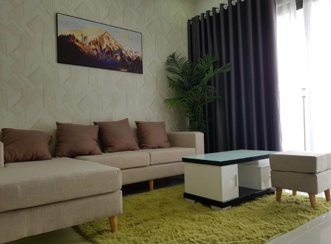 phòng khách căn hộ The Sun Avenue Căn hộ tầng 23 The Sun Avenue  nội thất đầy đủ, view thành phố cực đẹp