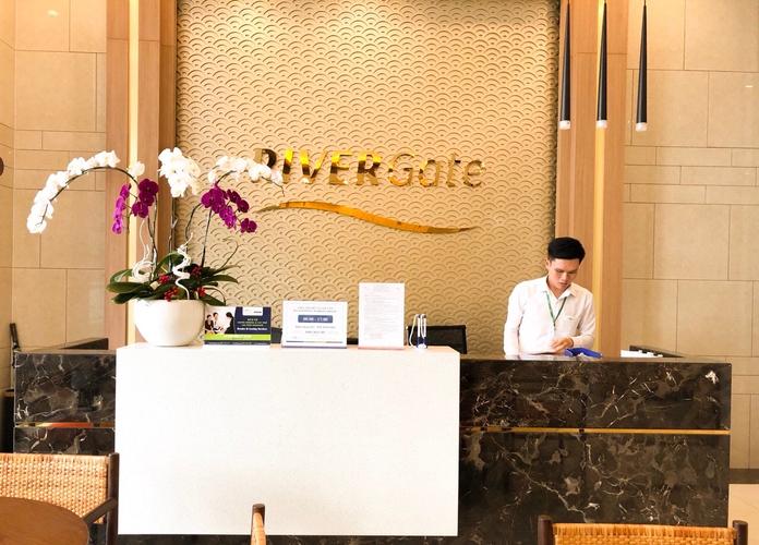 Studio RiverGate Residence, Quận 4 Studio Rivergate Residence tầng 14 thiết kế 1 phòng ngủ, đầy đủ nội thất.