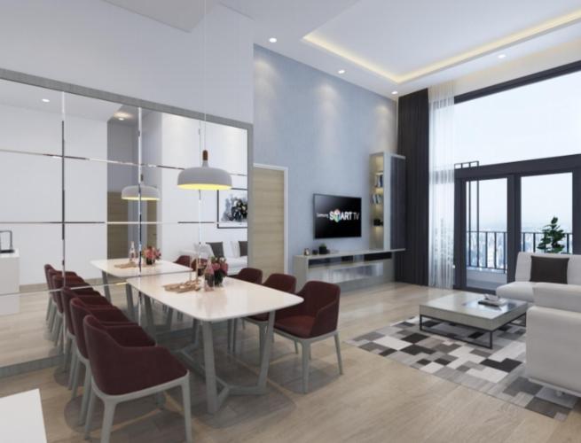Phòng ăn căn hộ Riviera Point Căn hộ Riviera Point tầng 3A sàn lót gỗ, bàn giao nội thất đầy đủ.