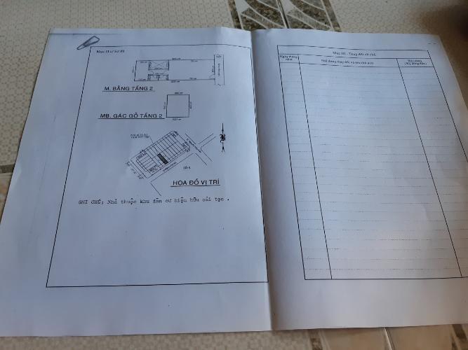 Bản vẽ nhà phố Bến Vân Đồn, Quận 4 Nhà phố hướng Đông, hẻm xe hơi rộng rãi, diện tích 52m2.
