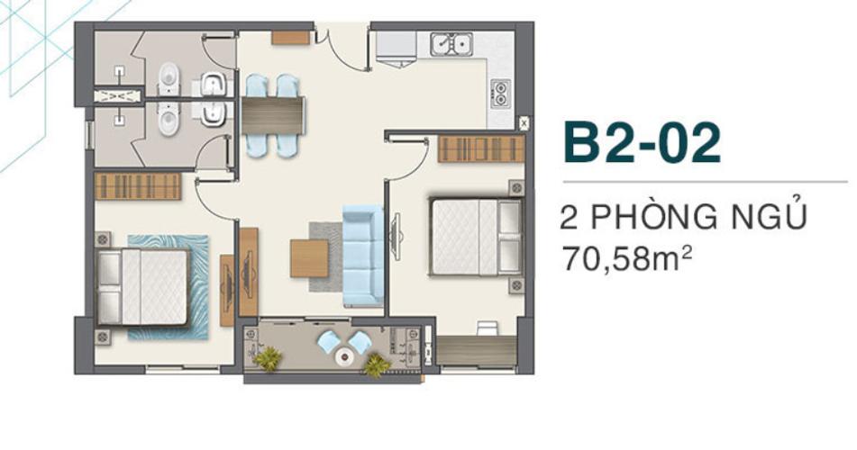 Căn hộ Q7 Boulevard tầng 14 thiết kế sang trọng, nội thất cơ bản.