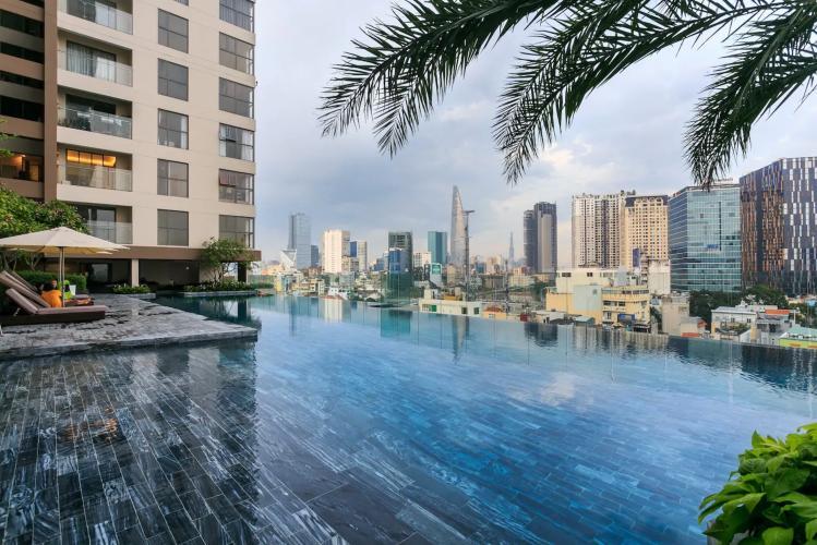 View căn hộ MASTERI MILLENNIUM Bán căn hộ Masteri Millennium 1PN, tầng thấp, đầy đủ nội thất, view trực diện hồ bơi
