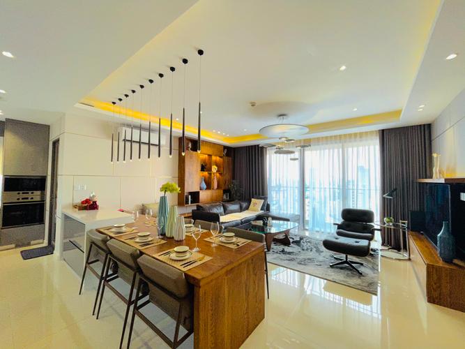 Căn hộ Masteri Millennium, Quận 4 Căn hộ Masteri Millennium tầng trung diện tích 107m2, đầy đủ nội thất.