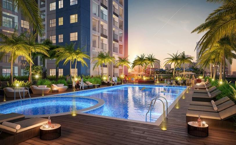 Tiện ích căn hộ Diamond Riverside, Quận 8 Căn hộ Diamond Riverside tầng 11 diện tích 72m2, không gian thoáng đãng.