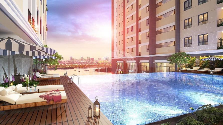 Tiện ích căn hộ Saigon Intela, Huyện Bình Chánh Căn hộ Saigon Intela tầng 13 ban công hướng Nam, view đón gió mát.