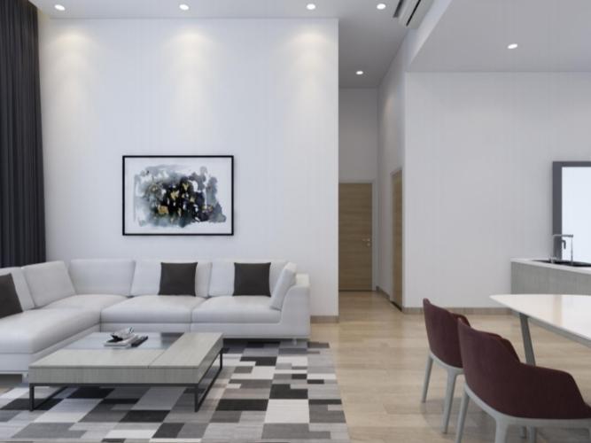 Phòng khách căn hộ Riviera Point Căn hộ Riviera Point tầng 3 nội thất đầy đủ, view thành phố.