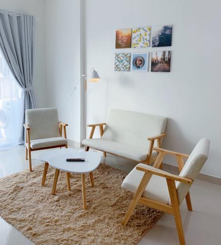 Phòng khách căn hộ SUNRISE RIVERSIDE Căn hộ Sunrise Riverside tầng thấp, đầy đủ nội thất