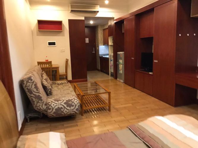 Studio The Manor tầng 2 diện tích 38m2, đầy đủ nội thất.