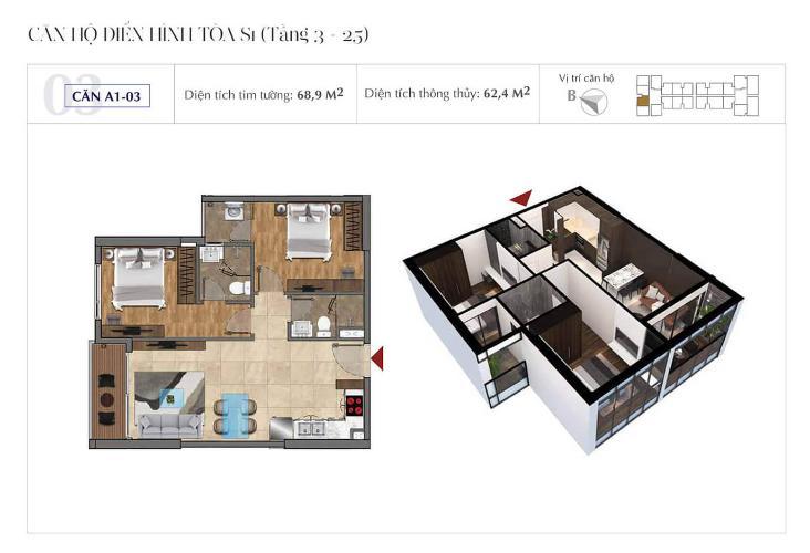 Căn hộ  Sunshine City Sài Gòn Bán Officetel Sunshine City Sài Gòn thuộc tầng cao, 2 phòng ngủ, diện tích 69m2, nội thất cơ bản.