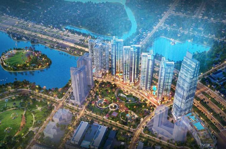Căn hộ Eco Green Saigon, Quận 7 Căn hộ Ecoe Green Saigon tầng cao diện tích 87m2, cửa hướng Đông Bắc.