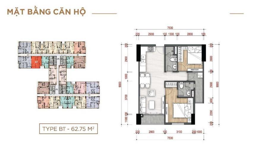 Căn hộ La Partenza tầng 12 bàn giao không nội thất, thiết kế kỹ lưỡng.