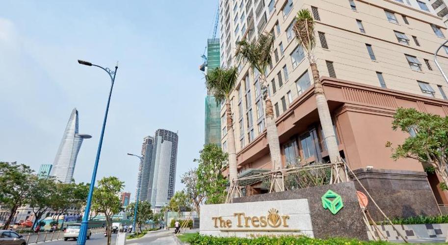 The Tresor Căn hộ The Tresor tầng cao 2 phòng ngủ view nội khu.