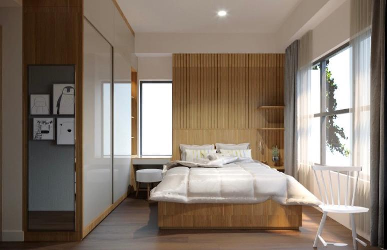 Phòng ngủ căn hộ The Sun Avenue Căn hộ The Sun Avenue tầng cao, đầy đủ nội thất, view Landmark.